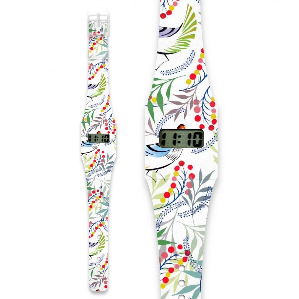 Papír karóra - FLORALITY BIRD -  Pappwatch Slim - 0
