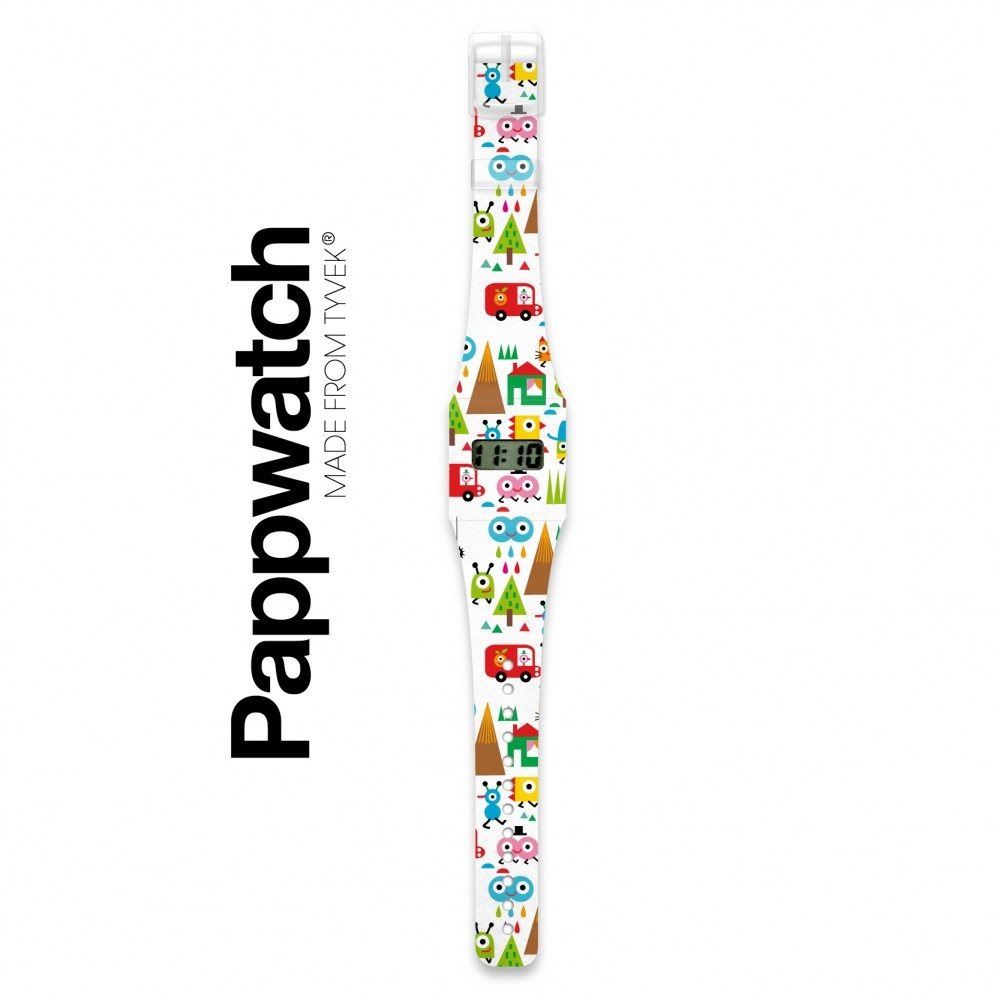 Papír karóra - HAPPY WORLD - Pappwatch Kids - 1