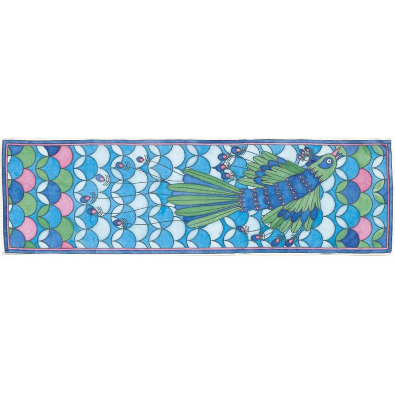 Selyemsál festő készlet - Páva - Peacock - 3