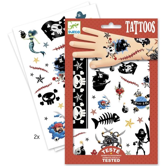 Tetováló matricák - Kalózok - Pirates - 1