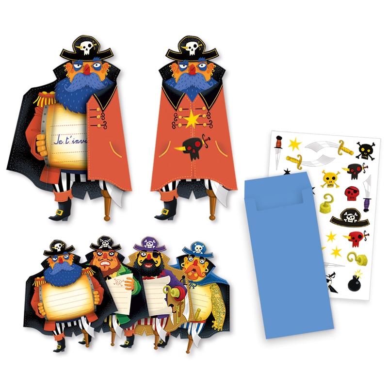 Parti játék - Meghívókártyák - Pirates invitation cards - 0