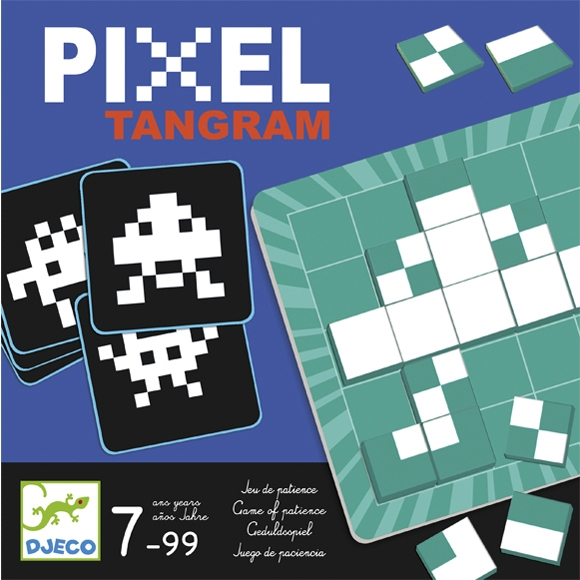 Logikai képkirakó játék - Pixi - Pixel Tamgram - 0