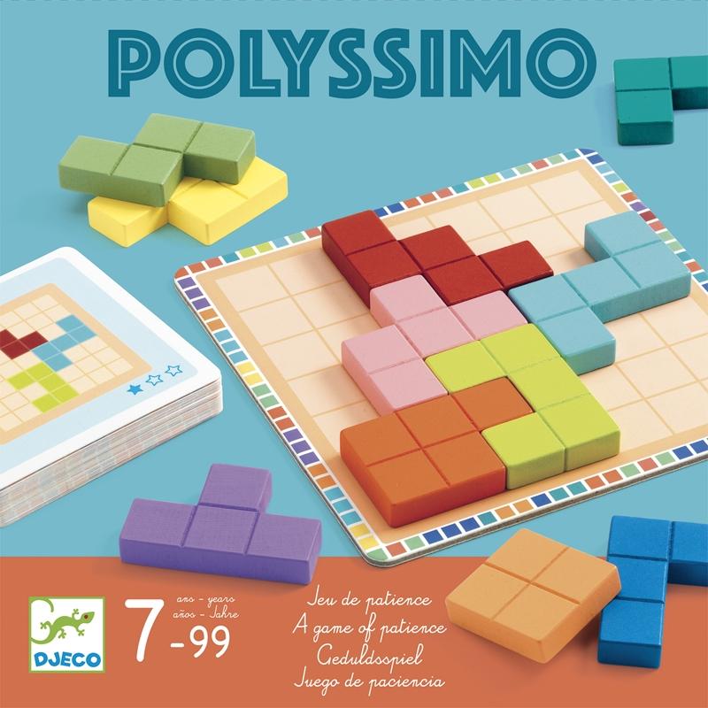 Logikai játék - Tetris négyzetkirakó - Polyssimo - 0