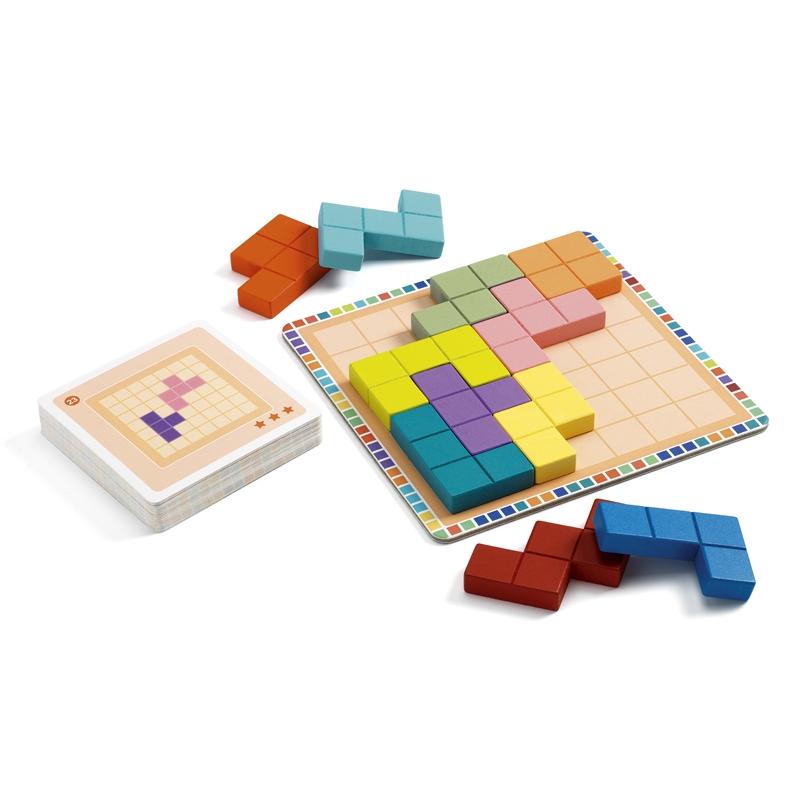 Logikai játék - Tetris négyzetkirakó - Polyssimo - 1