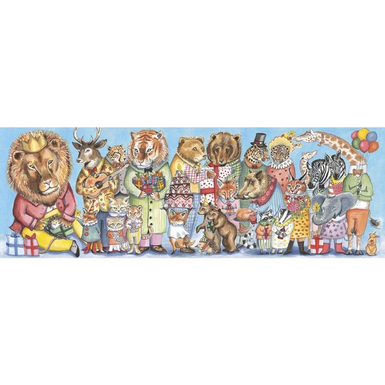 Művész puzzle - Királyi szülinap, 100 db-os - King party - 0