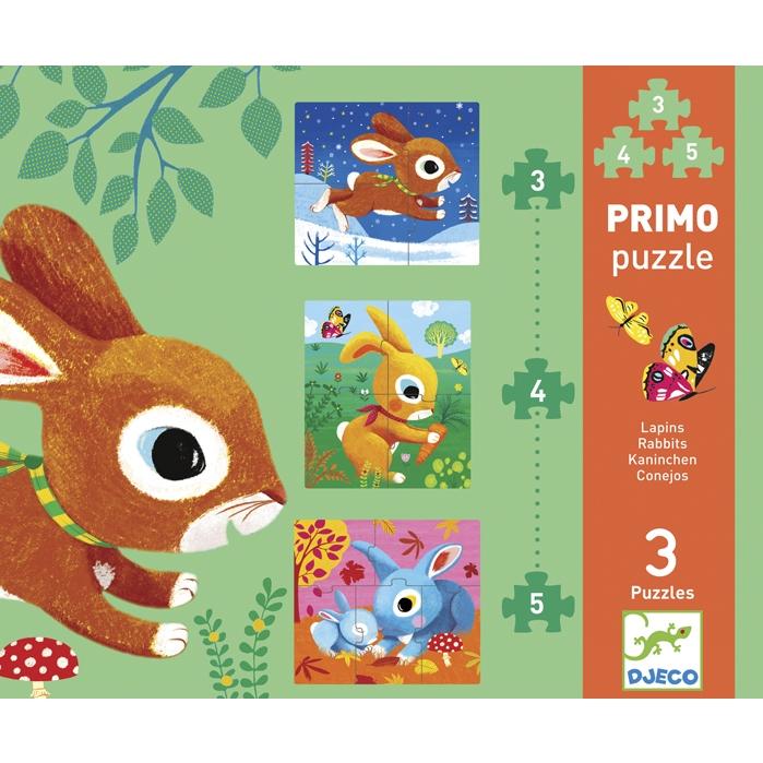 Primo puzzle -  Nyuszik - Rabbits - 0