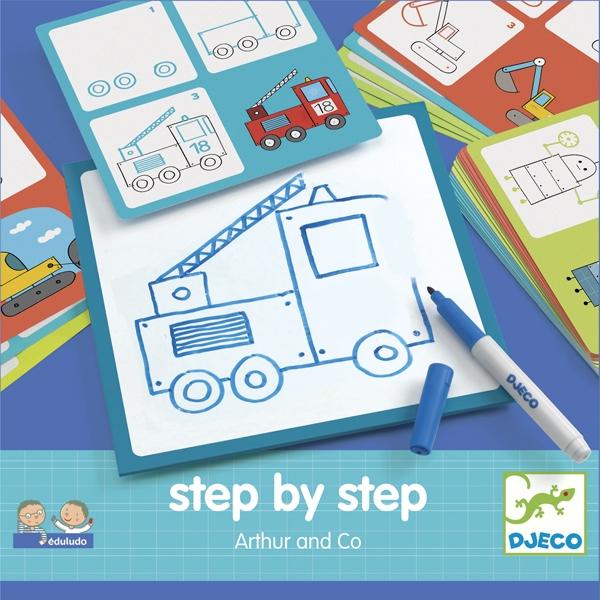 Rajzolás lépésről lépésre - Járművek - Step by step Arthur and Co - 0