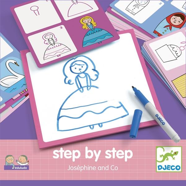 Rajzolás lépésről lépésre - Hercegnő - Step by step Joséphine and Co - 0