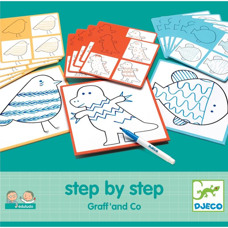 Rajzolás lépésről lépésre - Vonalvezetés - Step By Step Graff' and Co  - 0