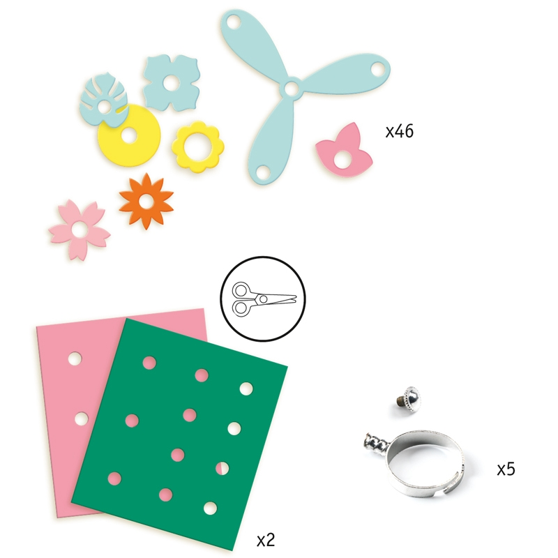 Magic plastic ékszer készítés - Gyűrük - Ring collection - 1
