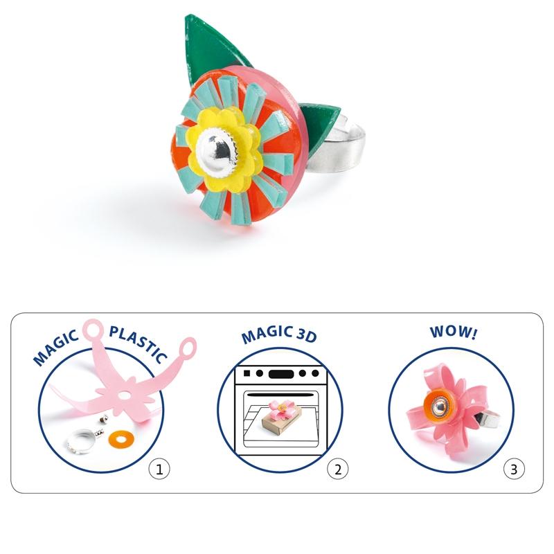 Magic plastic ékszer készítés - Gyűrük - Ring collection - 2