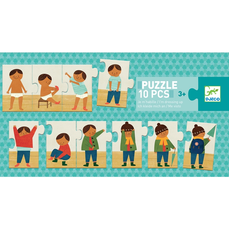 Sorozat puzzle - Felöltöztem - I am dressing up - 0