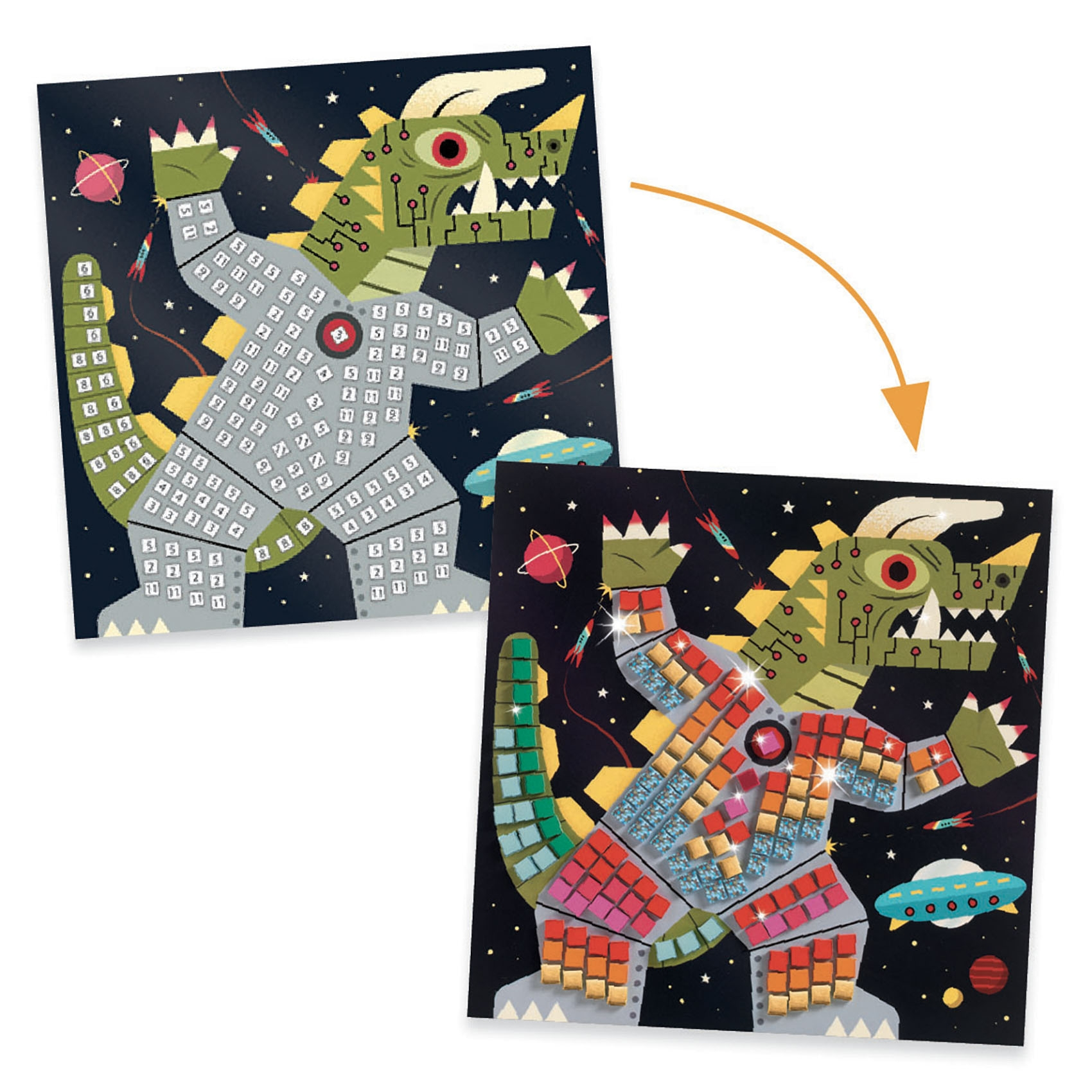 Mozaikkép készítés - Hadüzenet - Space battle - 2