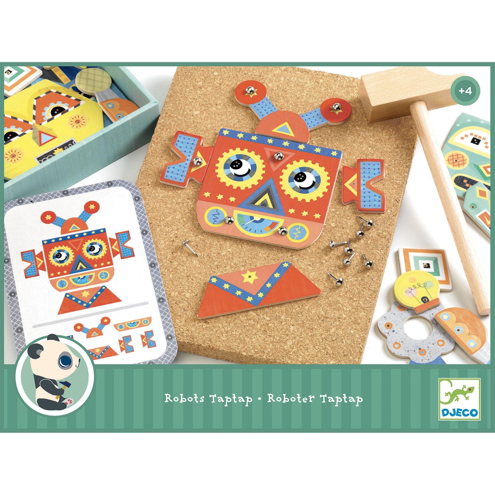 Kalapálós játék - Kip-kop robot - Tap tap Robots  - 0