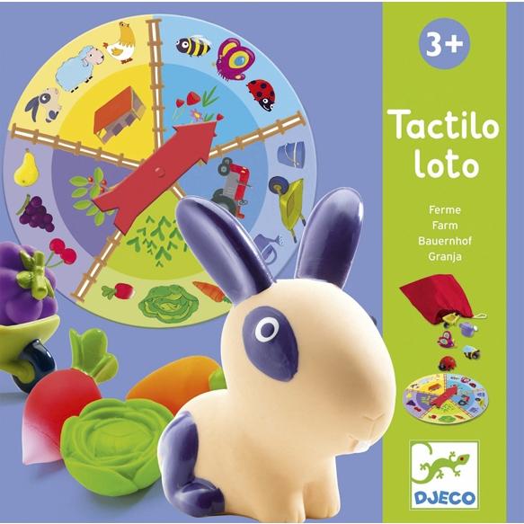 Fejlesztő társasjáték - Tapintható képeslottó - Tactilo lotto, farm - 0