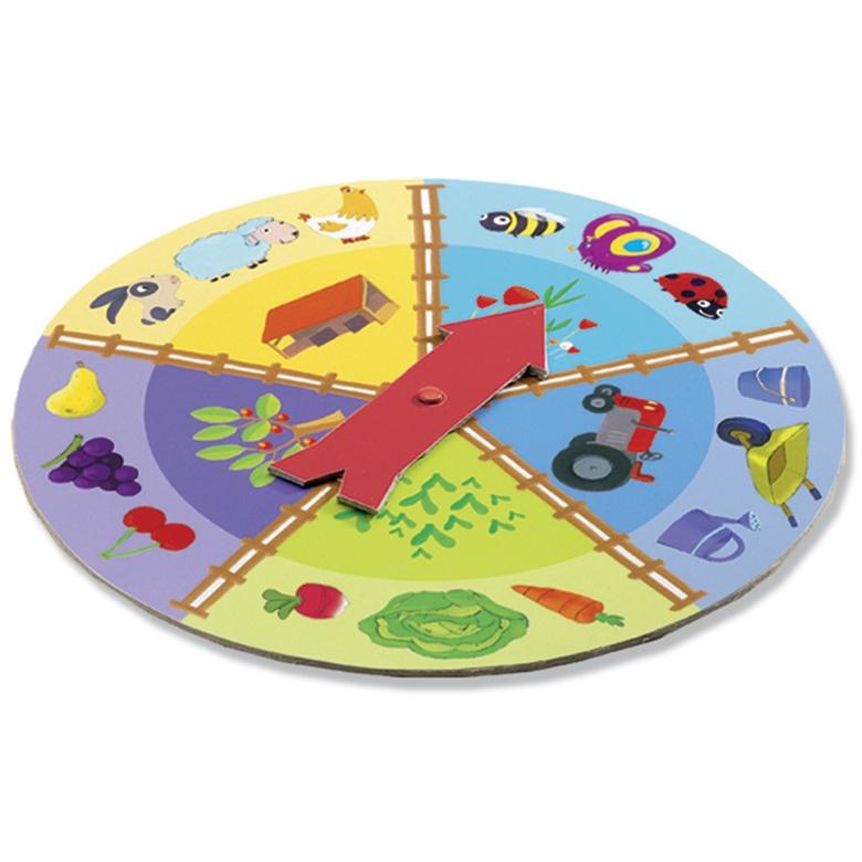 Fejlesztő társasjáték - Tapintható képeslottó - Tactilo lotto, farm - 2