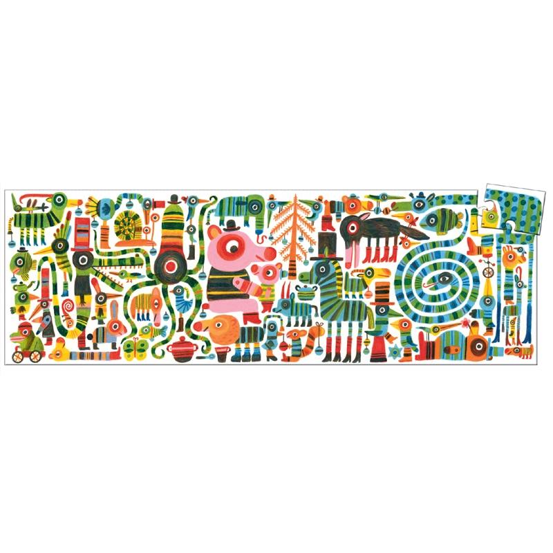 Művész puzzle - Vicces zebra, 36 db-os - Funny zebra - 0