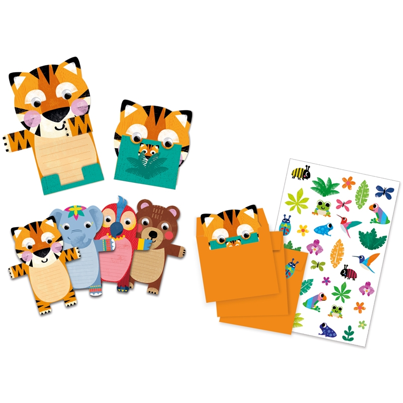 Parti játék -Meghívókártyák - Wild animals invitation cards - 1
