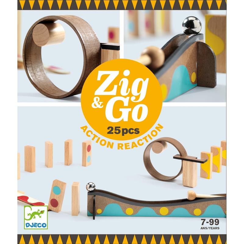 Építőjáték - Sokasodó 25 db - Zig & Go - 25 pcs - 0