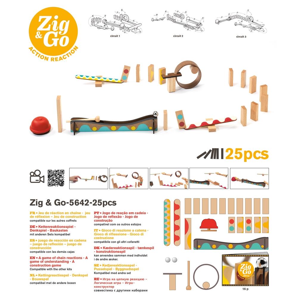Építőjáték - Sokasodó 25 db - Zig & Go - 25 pcs - 1