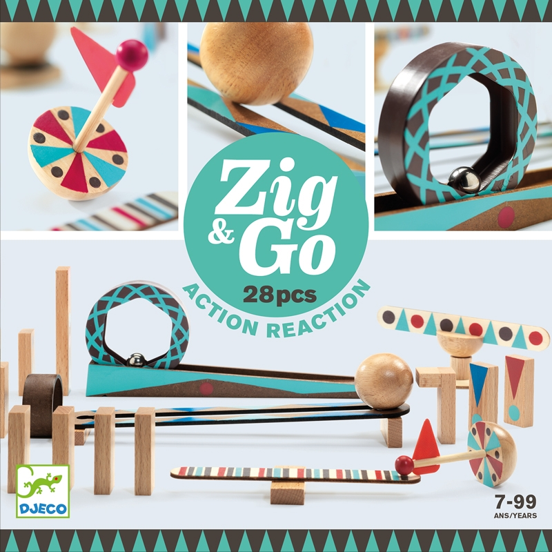 Építőjáték - Sokasodó - 28 db - Zig &Go - 0