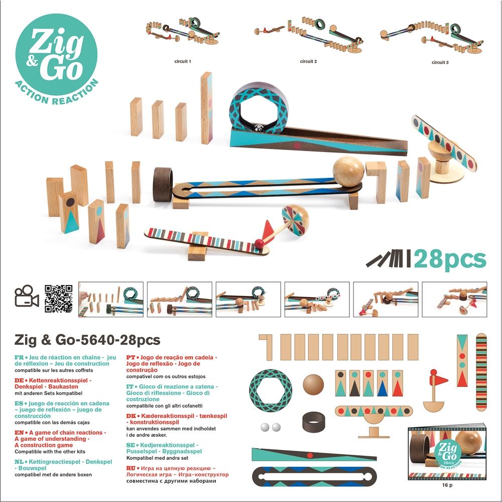 Építőjáték - Sokasodó - 28 db - Zig &Go - 1