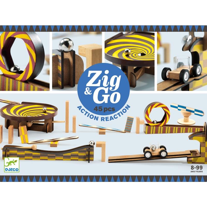Építőjáték - Sokasodó - 45 db - Zig & Go  - 0