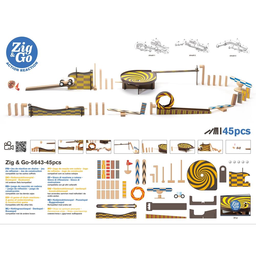 Építőjáték - Sokasodó - 45 db - Zig & Go  - 1