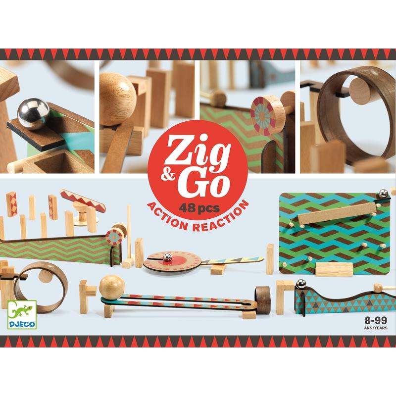 Építőjáték - Sokasodó 48 db - Zig & Go  - 0