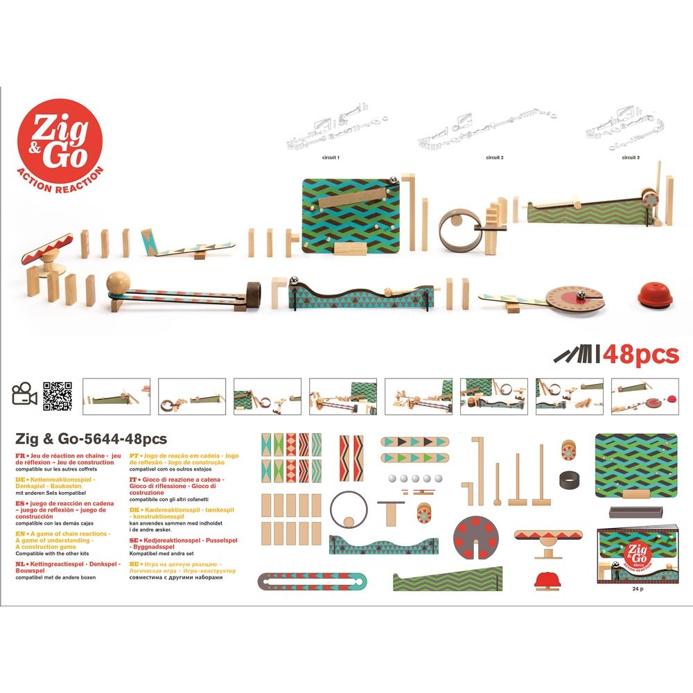 Építőjáték - Sokasodó 48 db - Zig & Go  - 1